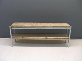Tv meubel steigerhout steigerbuis hoog