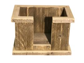 Hondenmand van steigerhout model klein L60xB40xH40cm