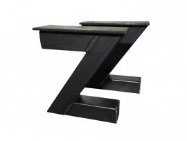 Stalen onderstel model Z bank koker 8x8cm (STRIP)