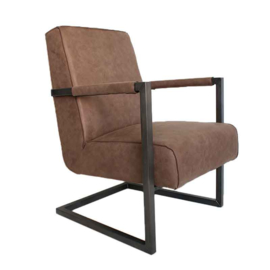 Fauteuil Leer Tyler Taupe