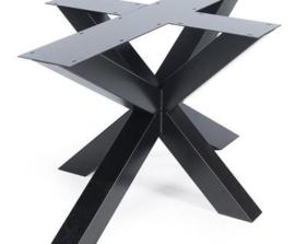 Stalen onderstel 3D gepoedercoat koker 10x10cm (kort)