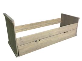 Bed van steigerhout met grey-wash (KBWH)