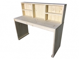 Bureau tafel van nieuw steigerhout met opzet kast