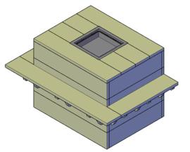 Doe-Het-Zelf bouwpakket steigerhout Vuurtafel Type B