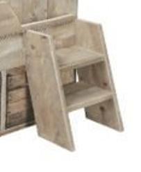 Los trapje van steigerhout