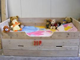 Montage voor bij een bedbank JIP één persoons bed