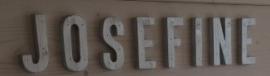 Losse houten letters (prijs per losse letter)