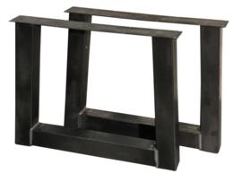"""Stalen tafel onderstel model """"trapezium"""" koker 10x10cm (STRIP) B110cm x H70cm (voorraad magazijn artikel)"""