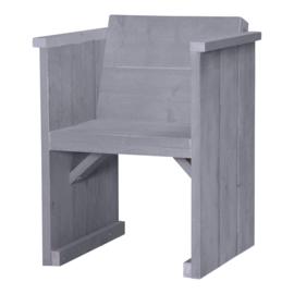Diner stoel dicht steigerhout kleur beton grijs