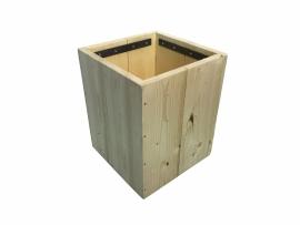 Verrijdbare opbergbak van nieuw steigerhout