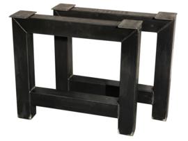 Stalen tafel onderstel model A koker 10x10cm