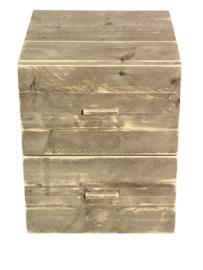 Nachtkastje met 2 lades van steigerhout