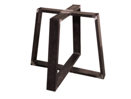 Stalen tafel onderstel model Chantaldubbel koker 10x3cm