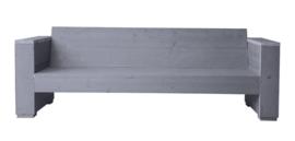 Doe-Het-Zelf bouwpakket loungbank steigerhout massief 3- zits kleur beton grijs