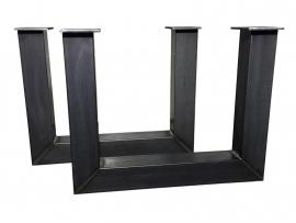 Stalen tafel onderstel model U koker 12x12cm