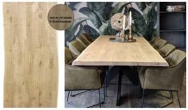 Eiken tafelblad Old style met Boomkant