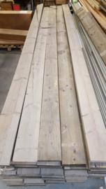 Steigerplanken B kwaliteit 3cm dik ongeschuurd prijs per meter