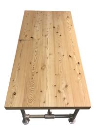 Doe-Het-Zelf bouwpakket tafel met steigerbuis van douglashout