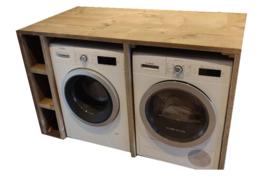 Wasmachine kast ombouw van steigerhout