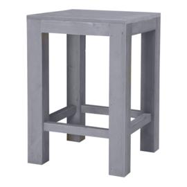 Statafel blokpoot 80x80cm steigerhout beton grijs