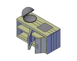 Doe-Het-Zelf bouwpakket steigerhout Buitenkeuken tbv Weber