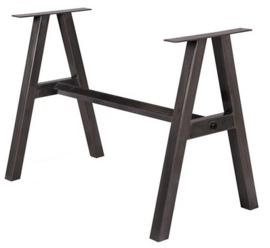 Stalen tafel onderstel dubbel A frame