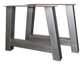 Tafel RVS look onderstel A model koker 10x10cm (STRIP)