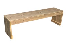 Bank van nieuw steigerhout afm: L150xB40cm (voorraad magazijn artikel)