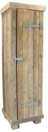 Kledingkast steigerhout 60cm breed met 2 schappen en  1 hang gedeelte