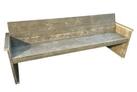 Bank gemaakt van oud steigerhout en *geimpregneerd afm: L200cm (voorraad magazijn artikel)