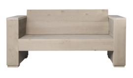 Loungebank steigerhout massief 2- zits kleur zand