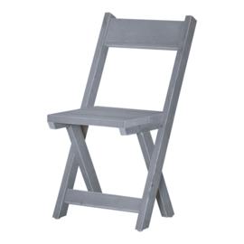 Kruispoot stoel steigerhout kleur beton grijs