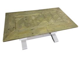 Salontafel KT2 van oud steigerhout met een mozaiekblad afm: L120xB70xH50,5cm (KT2)