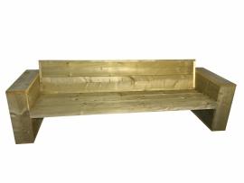 Loungebank van oud steigerhout afm: L200cm (voorraad magazijn artikel)