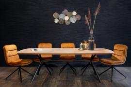 Eiken tafelblad Bergen Solid verjongde rand Deluxe