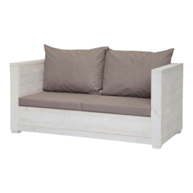 Loungebank Varia 2- zits kleur beton grijs