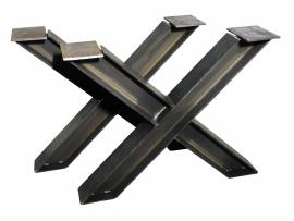Stalen tafel onderstel model kruis H profiel  10x10cm