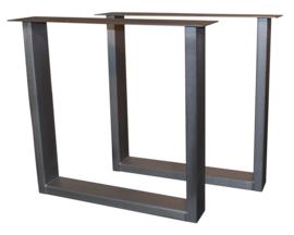 Tafel RVS look onderstel U model koker 10x4cm (STRIP)