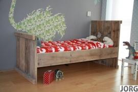 Doe-Het-Zelf bouwpakket  bed 90x200cm van oud of nieuw steigerhout