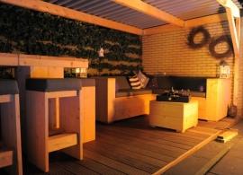 Eddy van den Bosch - tuinmeubelen van nieuw steigerhout