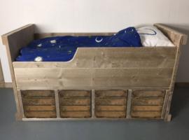 Peuterbed Steigerhout fruitkist Koentje B80 x L180 cm