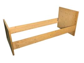 Bed van vurenhout afm: L200xB90cm old look wash (voorraad magazijn artikel)
