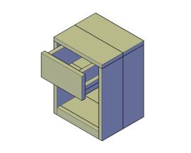 Doe-Het-Zelf bouwpakket nachtkastje type A van steigerhout