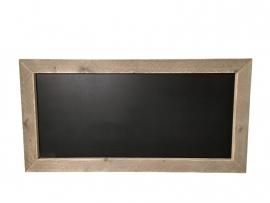 Krijtbord met een rand van oud of nieuw steigerhout (130x66)