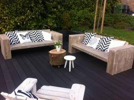 Doe-Het-Zelf bouwpakket  loungebank van steigerhout