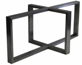 Stalen tafel onderstel Ruben koker 8x4cm L240cmxB78cmxH71cm (voorraad magazijn artikel)