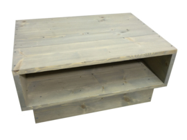 Salontafel steigerhout behandeld met greywash L80xB60xH39cm (9ST)