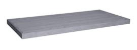 Tafelblad steigerhout Bologna kleur beton grijs afm: L300 x B100 cm (voorraad magazijn artikel)
