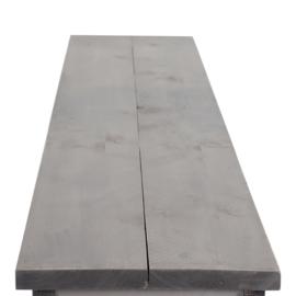 Bank Eleganza steigerhout beton grijs zitting & schelpwit onderstel
