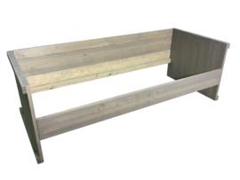 Eenpersoonsbed nieuw steigerhout greywash behandeld afm: L200xB80cm (voorraad magazijn artikel)